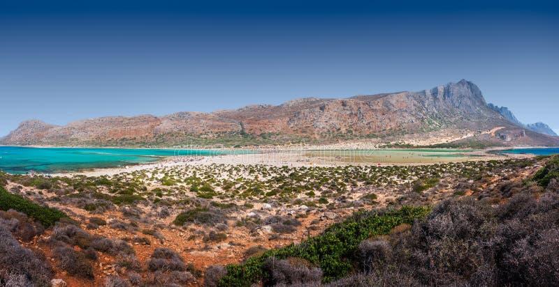 Panorama della spiaggia di Balos, Creta, Grecia immagine stock libera da diritti