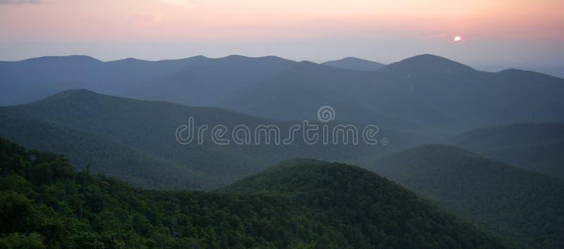 Panorama della valle di Shenandoah fotografie stock libere da diritti