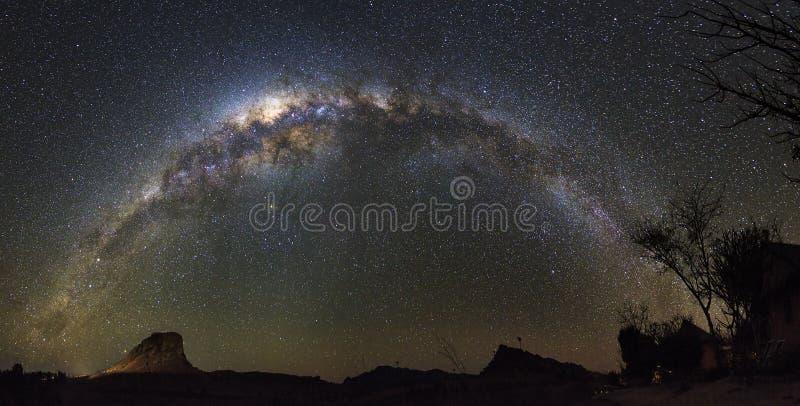 Panorama della Via Lattea immagini stock