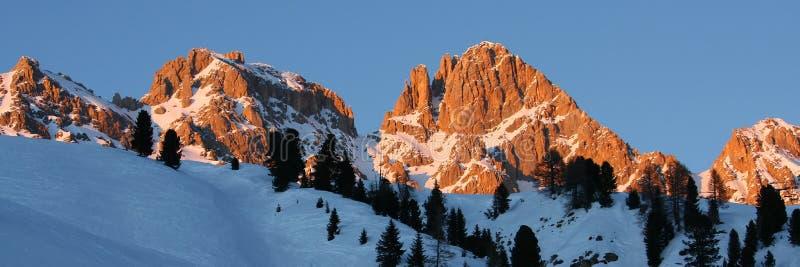 Panorama delle alpi di Dolomiti (Italia) fotografia stock libera da diritti