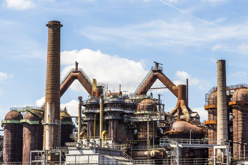Panorama delle industrie siderurgiche di Volklingen nella Saar immagini stock