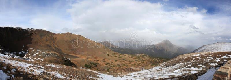 Panorama delle montagne rocciose del Colorado fotografie stock libere da diritti