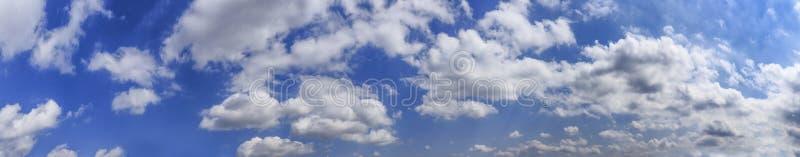 Panorama delle nubi di cumulo immagine stock libera da diritti