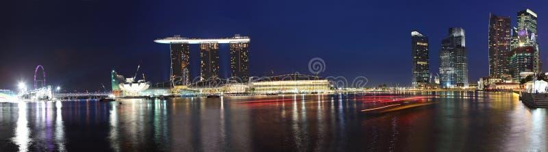 Panorama delle sabbie della baia del porticciolo, Singapore fotografia stock