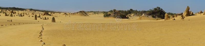 Panorama der Berggipfel-Wüste, Nationalpark Nambung, West-Australien lizenzfreies stockfoto