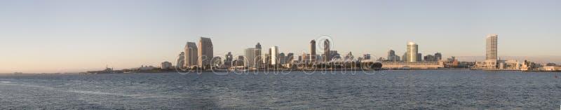 Panorama der Diego-Skyline stockbilder