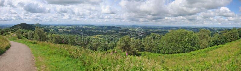 Panorama der englischen Landschaft lizenzfreies stockbild