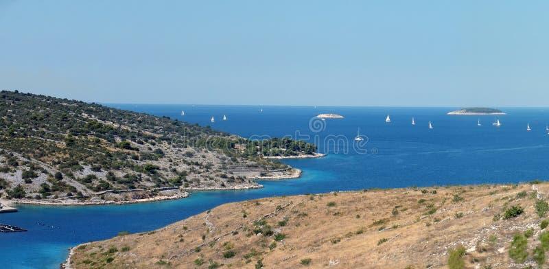 Panorama der Küstenlinie lizenzfreie stockbilder