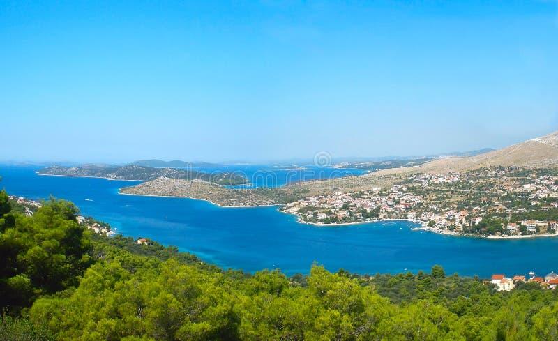 Panorama der Küstenlinie lizenzfreies stockbild