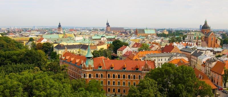 Panorama der Krakau-Stadt lizenzfreie stockfotos