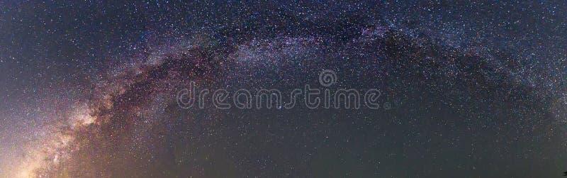 Panorama der Milchstraße stockfoto