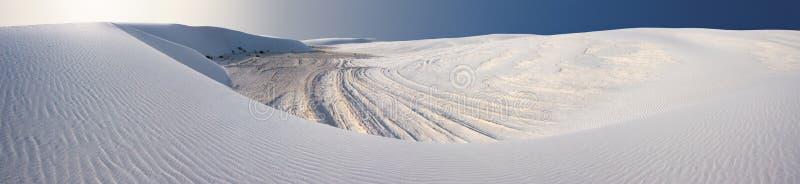 Panorama der Sanddüne-(weiße Sande von Nanometer) lizenzfreies stockfoto