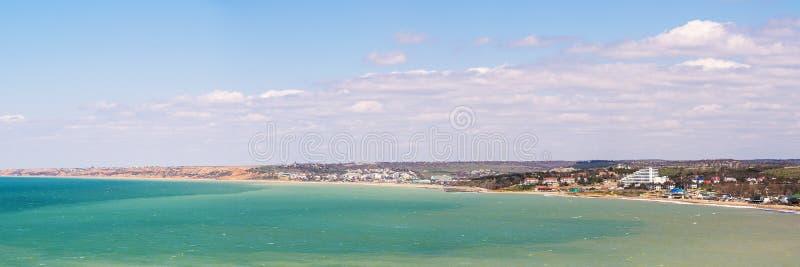 Panorama der Seeküste stockfotos