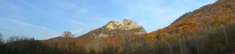 Panorama der Seneca-Felsen stockbilder