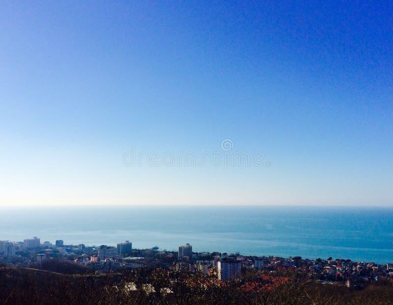 Panorama der Stadt von Adler stockfoto