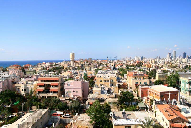 Panorama der Stadt von Jafo lizenzfreies stockfoto