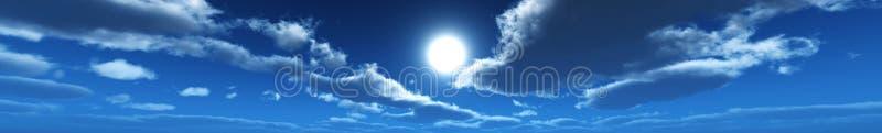 Panorama der Wolken, die Sonne unter den Wolken lizenzfreie stockbilder