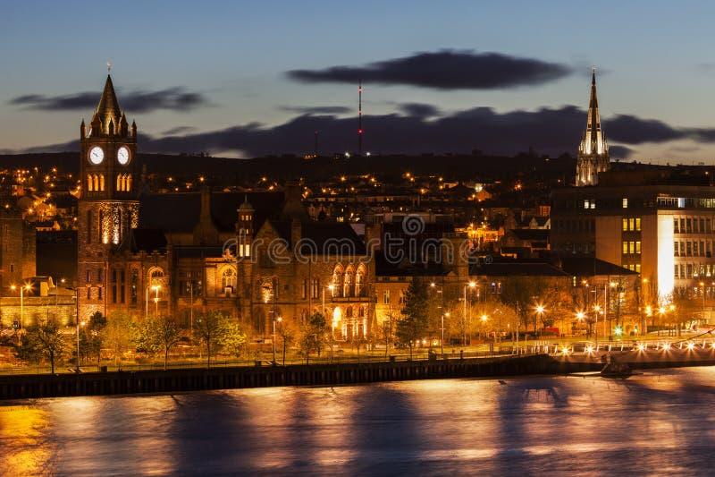 Panorama of Derry royalty free stock photos