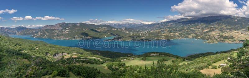 Panorama des französischen Alpes stockfotografie