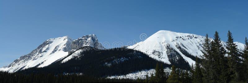 Panorama des montagnes photo libre de droits