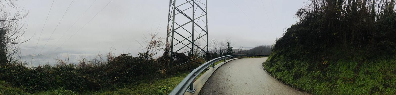 Panorama des Nebels der Berge stockfoto