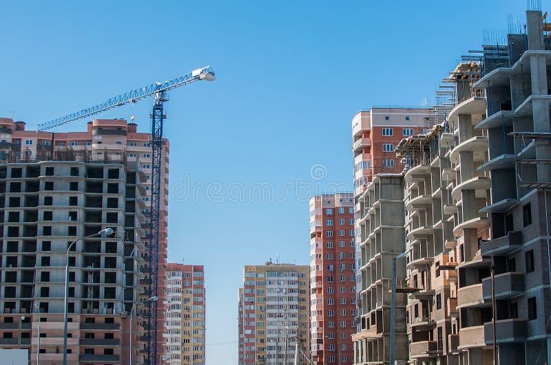 Panorama des neuen Stadtgebiets stockbilder