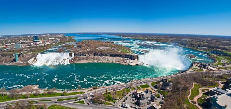 Panorama des Niagara Falls stockbilder