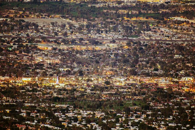 Panorama des Palm Desert lizenzfreie stockfotografie
