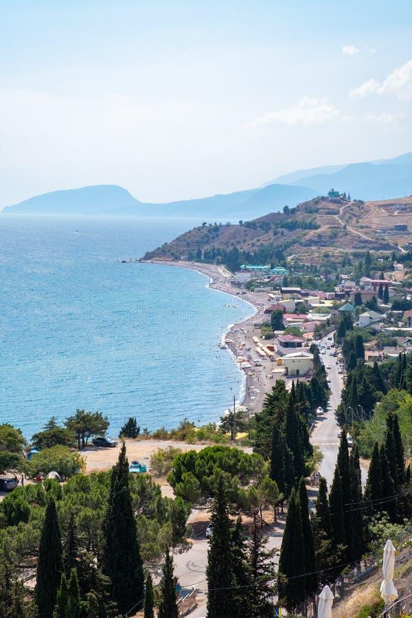 Panorama des Solnechnogorskoe, Krim stockfoto