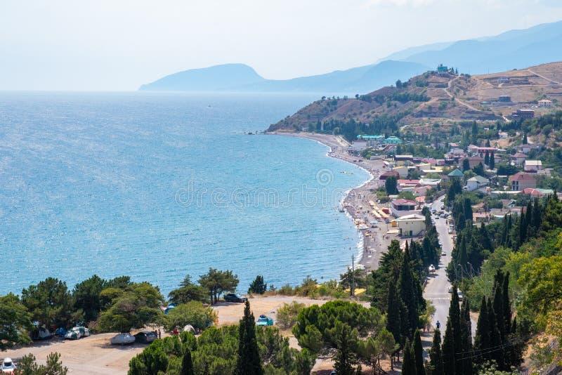 Panorama des Solnechnogorskoe, Krim lizenzfreie stockbilder