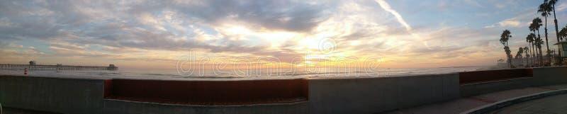 Panorama des Strandes stockfotos