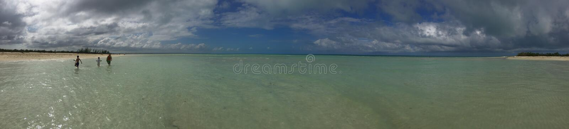 Panorama des Strandes und des Meeres in Cayo-Cocos, Kuba stockbilder