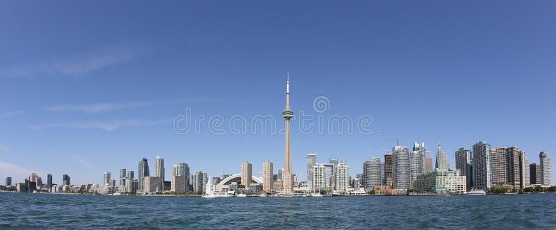 Panorama des Toronto-Hafens stockbild