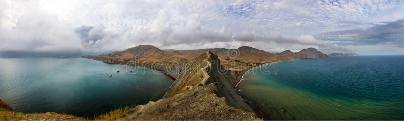 Panorama des Umhang-Chamäleons in Krim stockbilder