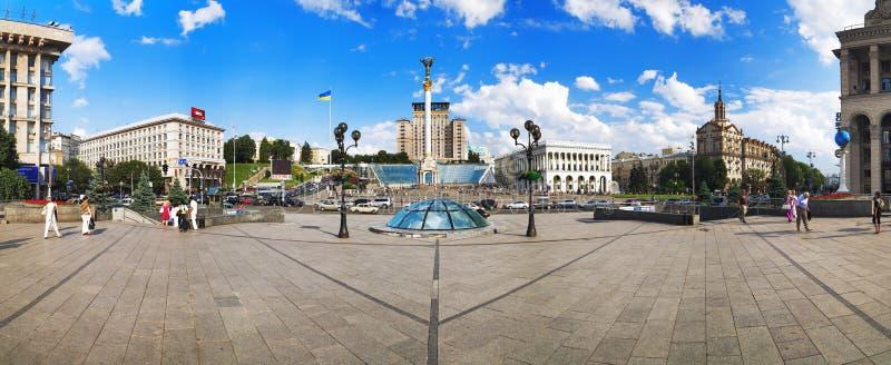 Panorama des Unabhängigkeit-Quadrats in Kiew stockbild