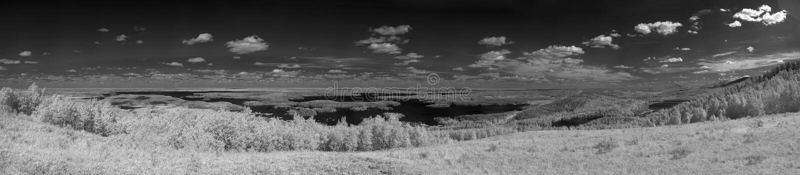 Panorama des Urals Ir-Foto lizenzfreies stockbild