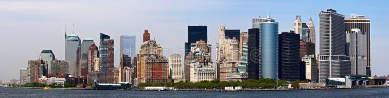 Panorama detalhado de Manhattan. foto de stock royalty free