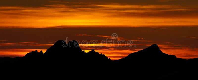 Panorama di alto Tatras immagini stock libere da diritti
