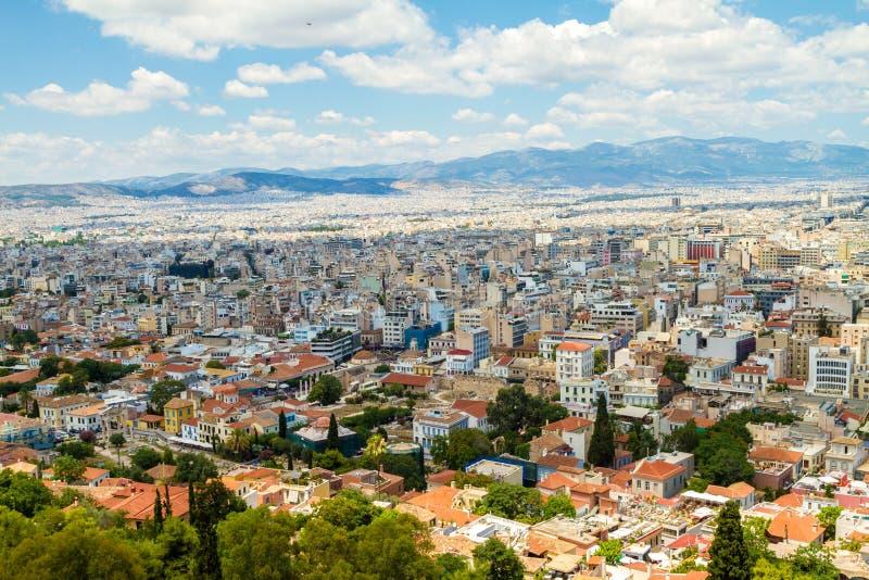 Download Panorama di Atene, Grecia immagine stock. Immagine di luce - 56888861