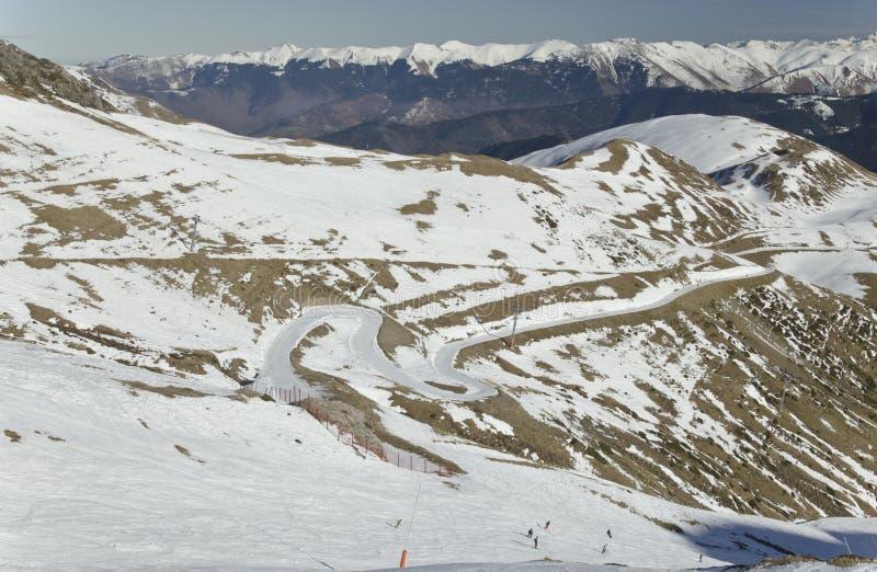 Panorama di Aure Valley in Hautes Pirenei fotografie stock libere da diritti