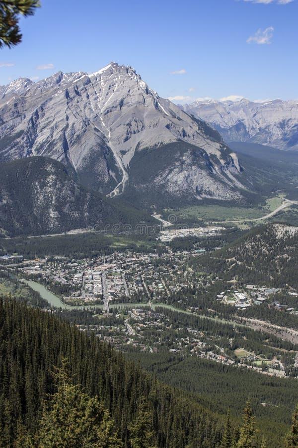 Panorama di Banff fotografie stock