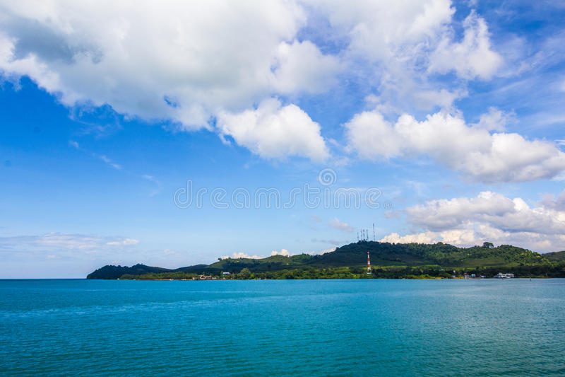 Panorama di bella vista su Koh Chang immagini stock