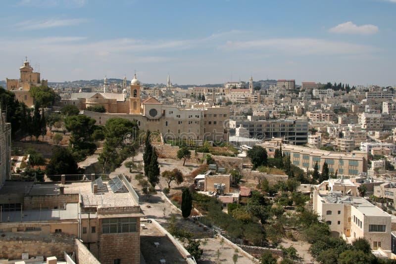 Panorama di Bethlehem fotografia stock libera da diritti
