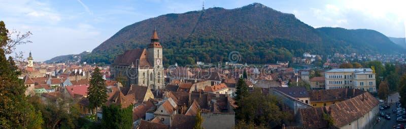 Panorama di Brasov fotografie stock libere da diritti