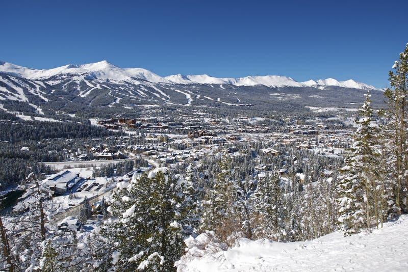 Panorama di Breckenridge Colorado immagini stock