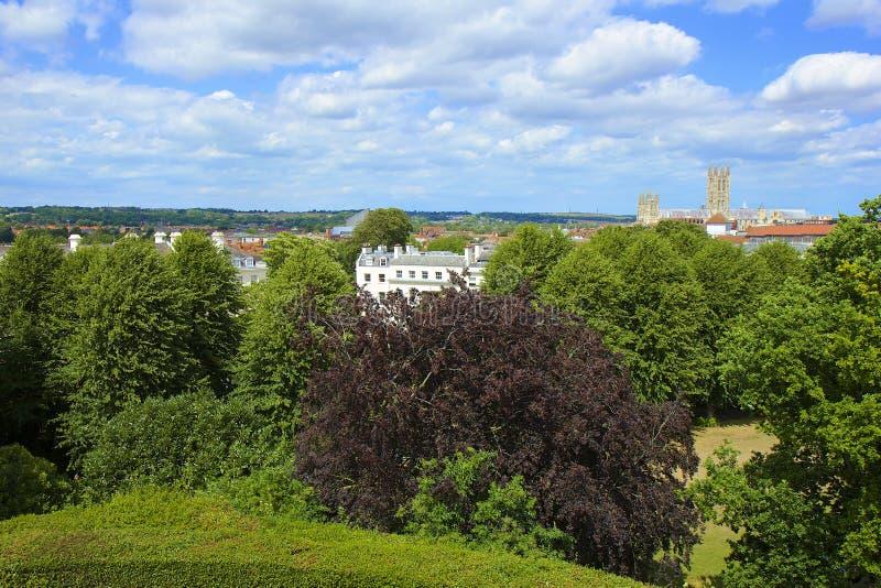 Panorama di Canterbury, Regno Unito fotografia stock libera da diritti