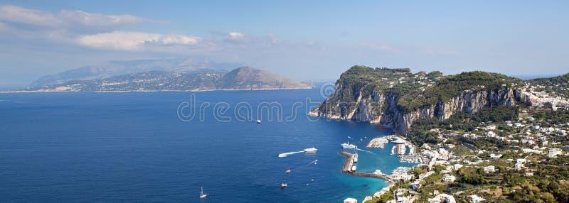 Panorama di Capri immagine stock libera da diritti