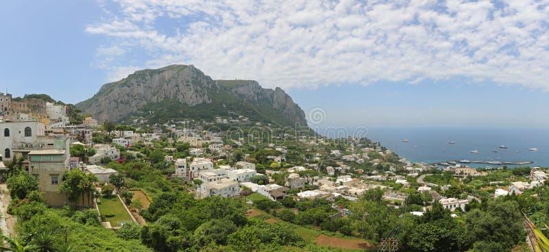 Panorama di Capri fotografie stock libere da diritti