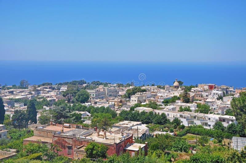 Panorama di Capri, sull'isola italiana di Capri immagini stock