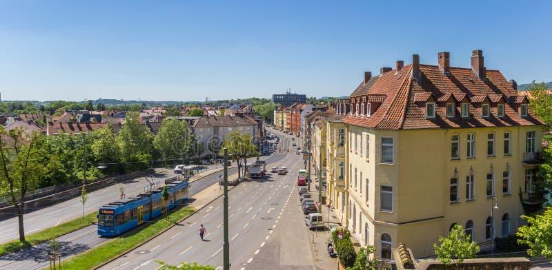 Panorama di Cassel dalla collina di Weinberg fotografia stock
